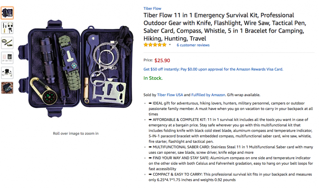 Survival Kit gear Tiber Flow