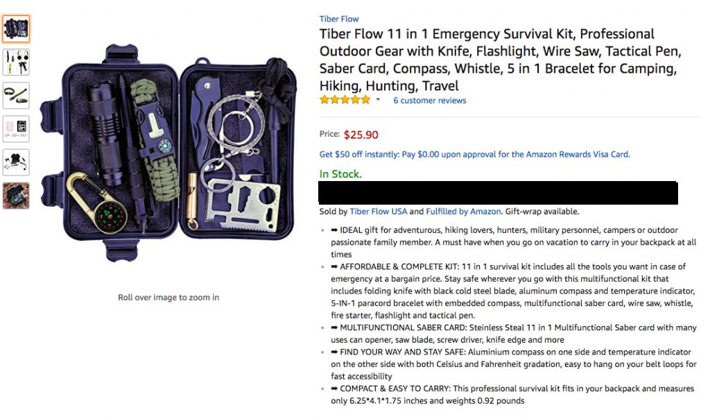 Survival Kit gear Tiber Flow